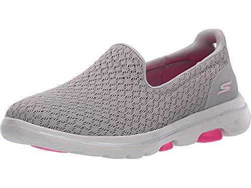 Skechers Performance Women's Go Walk 5 - Trophy Gray/Pink 8 B US