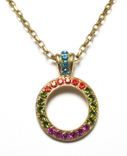 Mariana-Gold-Plated-Tiger-Lily-Swarovski-Crystal-Circle-Pendant-Necklace