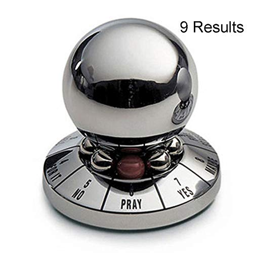 shanghailiangxiang Decision Maker Metal Ball, Office Finger Spinner Anti-Stress Decompression Toy Ball Desktop Decoration Prophecy Gift Random Color for Adults and Kids (Random Color)