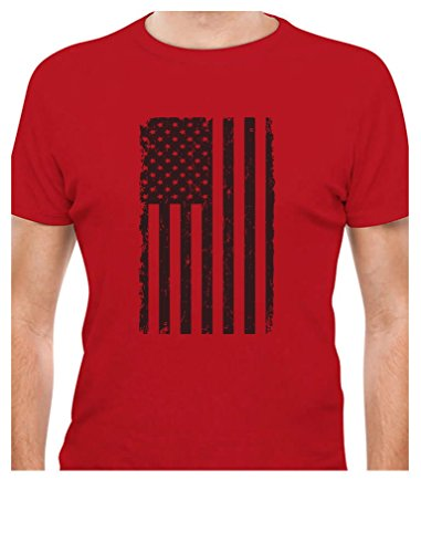 Big Black American Flag - Vintage 4th of July USA Flag T-Shirt Large Red]()