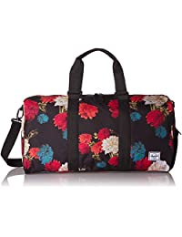 Herschel Novel Mid-Volume Duffel Bag, Vintage Floral Black, One Size