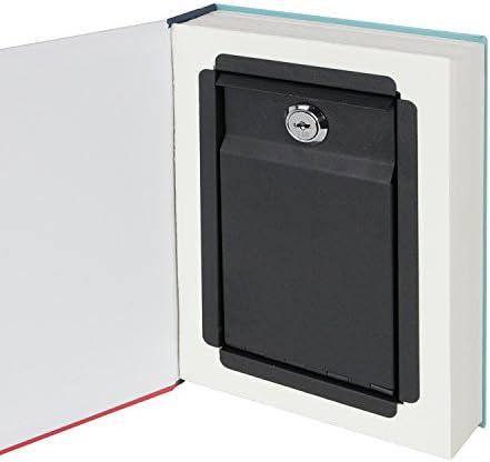 HMF 80945 caja fuerte en forma de libro, caja de caudales camuflada, páginas de papel auténticas,