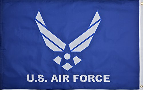 Green Grove Products Air Force Logo Flag 3' x 5' Ft 210D Nyl