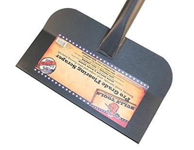 Bully Tools 91340 Big Bully 12-Inch Steel Flooring Scraper with Fiberglass Long Handle