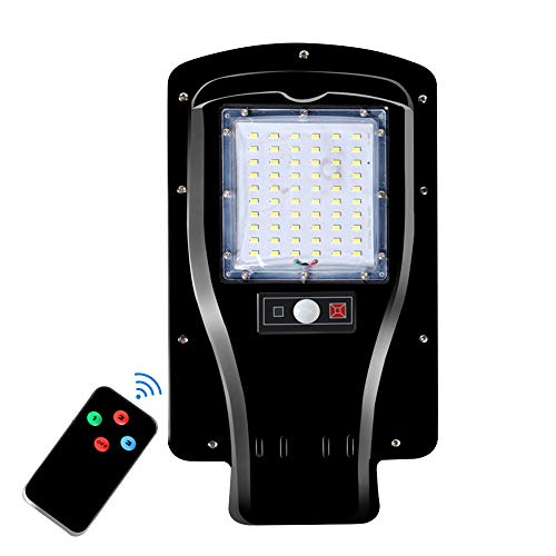 LUCKSTAR 30W LED Street Light - Solar Power Road Lamp Outdoor Lighting with Remote Control for Streets Garden Yard and Parking Without The Mounting Equipment
