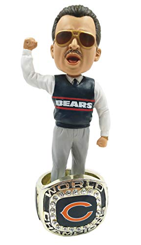 Mike Ditka (Chicago Bears) 1985 Super Bowl Championship Ring Base Bobblehead Exclusive #750