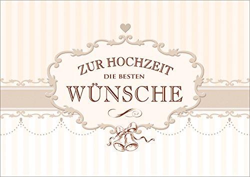 Edle Gluckwunschkarte Zur Hochzeit Im Vintage Style Klappgrusskarte