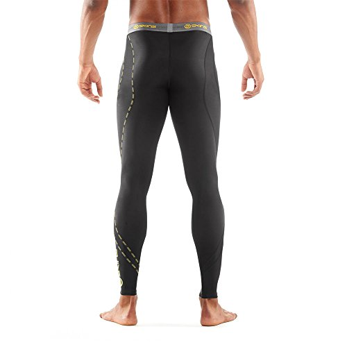 SKINS Men's DNAmic Compression Long Tights, Black, X-Small by Skins (Image #2)