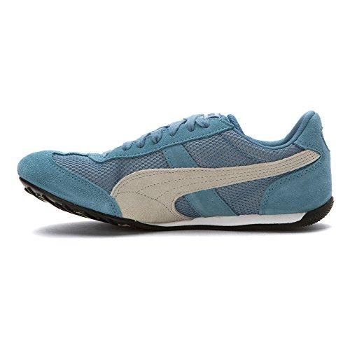 Chaussures Puma 76 Runner En Maille Bleu Ciel / Noir