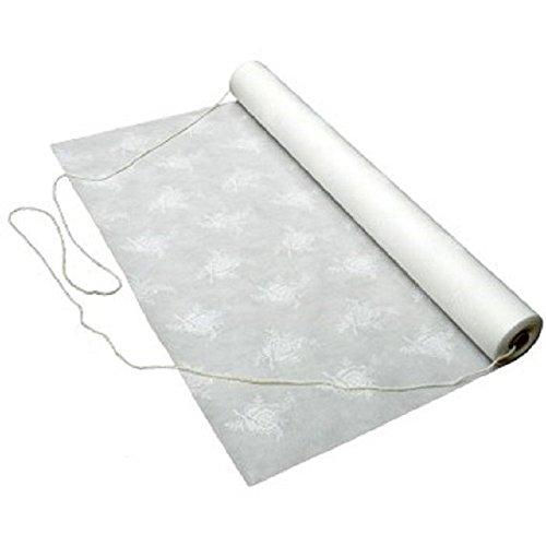 50 ft. Aisle Runner for Weddings Floral Rose Print Fiber Cloth Type ()