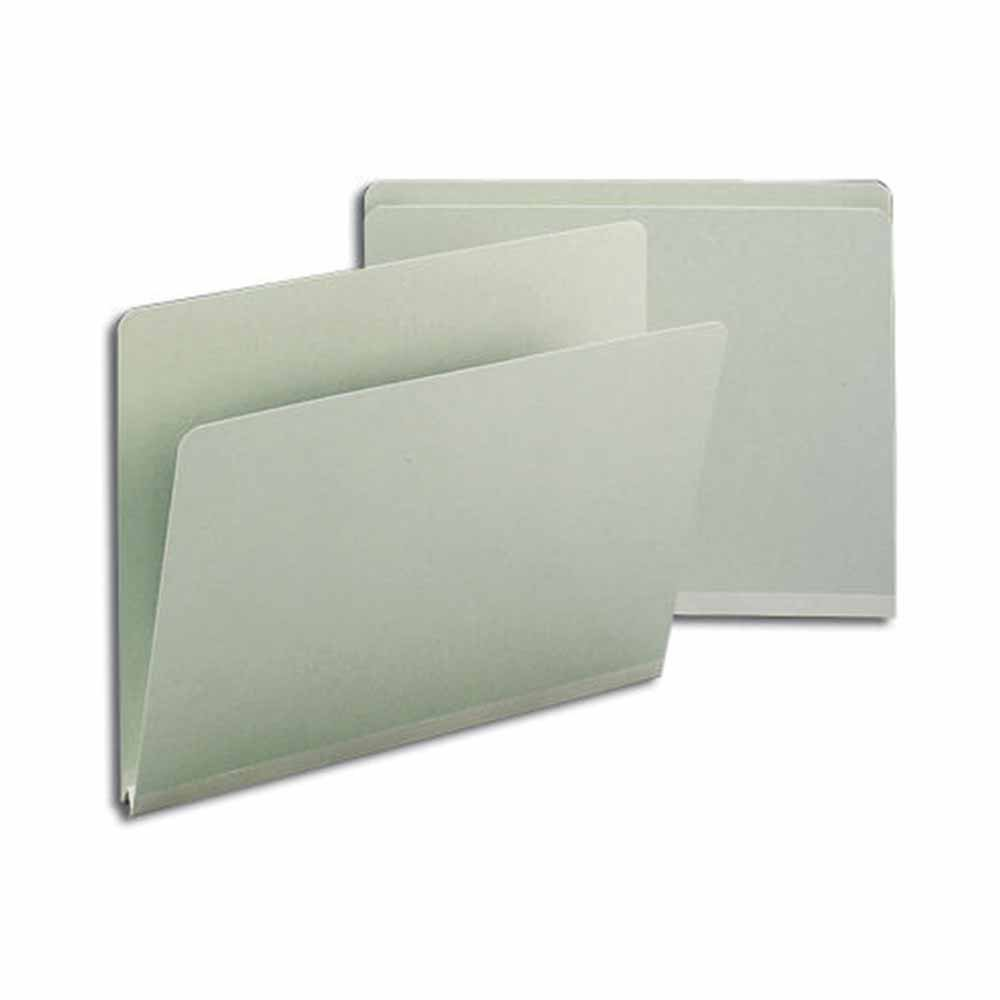 SMEAD 400B Top Tab Folder, No Fastener, 25Pt Pressboard, Full Cut, 1'' Expansion, 11 3/4'' x 9 1/2'', Smead Gray (Pack of 125)