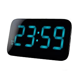 Elong Portable Large Numbers Alarm Clock For Bedroom,12/24 Hours Format,Battery Powered,USB Charging,Sleep&Snooze Function,Voice Control