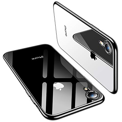 - TORRAS Clear iPhone XR Case 6.1 Inch, Soft Silicone TPU Cover with Electroplated Bumper Slim Thin Case Compatible with iPhone XR (2018), Black