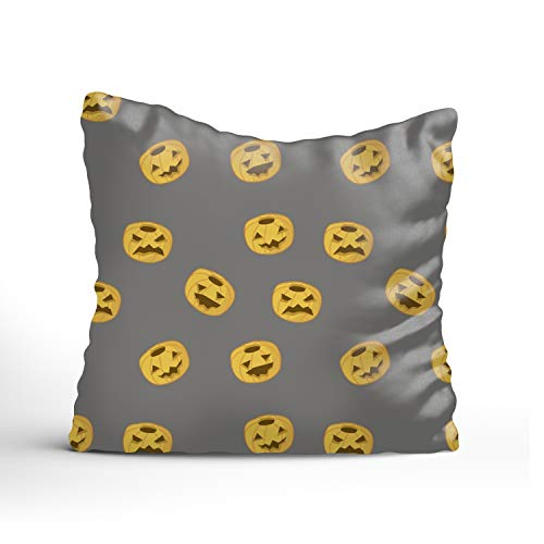 Dolores Joule Halloween Pumpkin Square Pillowcase Pillow Cover 20x20 Couch,Cushion Case (one Sides Printing) -