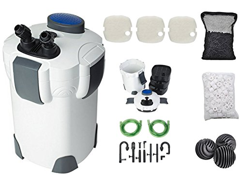 SunSun Hw302 265GPH Pro Canister Filter Kit (Best Canister Filter For 55 Gallon Aquarium)