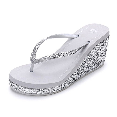 48aa90e24cbaf True Meaning New design Ladies Fashion Flip Wedge Beach Women Sandals  Female Drag High-heeled