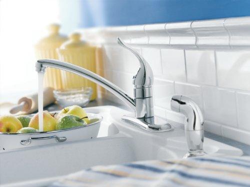 Commercial style kitchen faucet