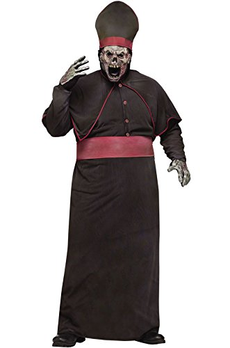 [Zombie High Priest Plus Size Costume] (High Priest Zombie Costumes)
