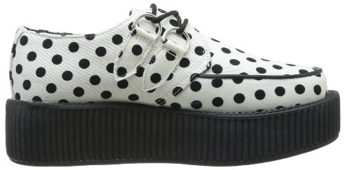 Sole With Dots Mondo Black Tuk Mixte white Blanc Hi Adulte Mode Creeper Baskets ZwBvEqB