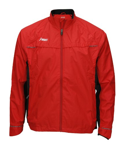 Team Storm Shelter - ASICS Men's Team Storm Shelter Jacket, Red/Black, Small