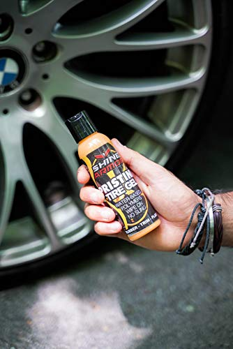 Shine Armor Pristine Tire Shine Dressing & Cleaner Gel - Car Care for Wheels & Tires - No Sling Formula - Wet Look - Keeps Tires Black - Water Based Polymers - Rubber, Trim, Plastic, Dashboard
