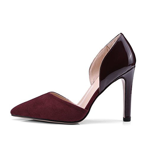 Summer Donna Black Party Red Jieeme Tacchi Wine Stiletto Alti Sandali Sexy Scarpe gAwqwx8
