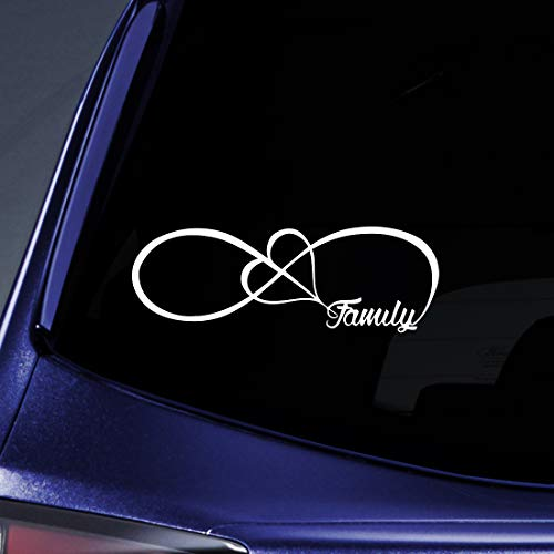 Bargain Max Decals - Family Love Heart Infinity Forever - Sticker Decal Notebook Car Laptop 8