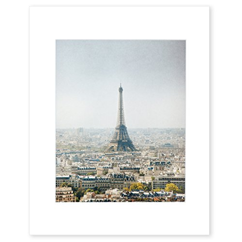 Paris Wall Art, French Eiffel Tower Photography, Parisian City Skyline Wall Decor, 8x10 Matted Photographic Print (fits 11x14 frame), 'Storm over Paris' by Offley Green