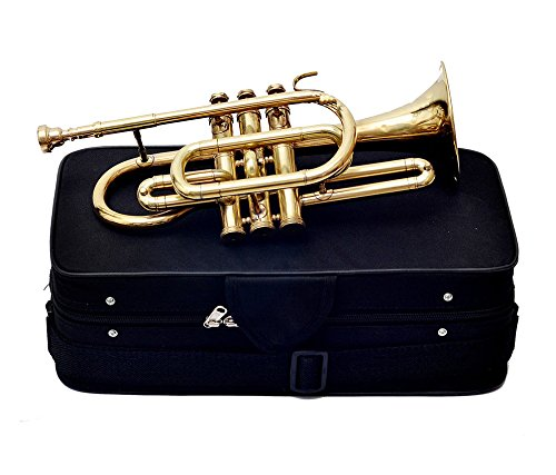 GIFT FOR FATHER CORNET Bb PITCH BRASS WITH FREE HARD CASE AND MP