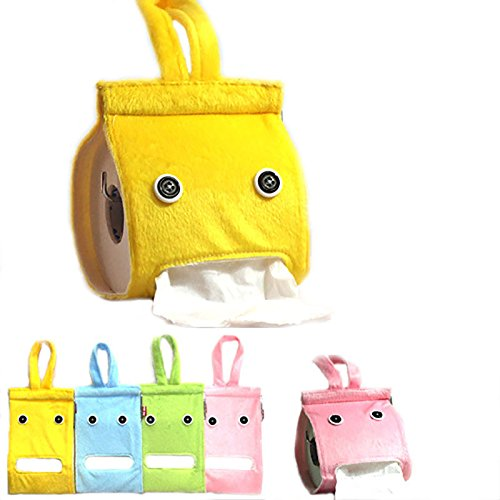 Creative Hanging Tissue Holder Paper Holder Dispenser Cover Plush Cloth Toilet Paper Container Box