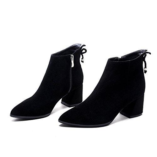 Mujer zapatos Sharp tal botas desnuda DYF cortas zAnwa7q76