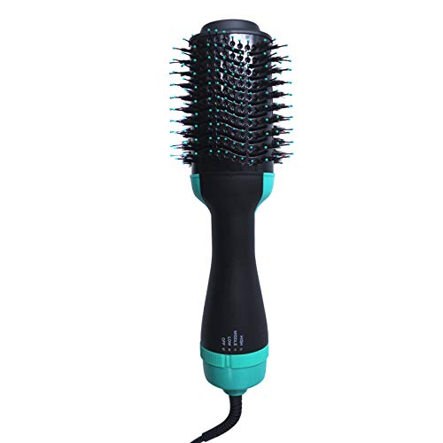Hot Air Hair Dryer Brush - 3 in 1 Hot Air Brushes Negative Ions Styler Hair Straightener and Curling Iron Comb for all Hair Types -  Bronkey, EHBS5660UKGN=LM