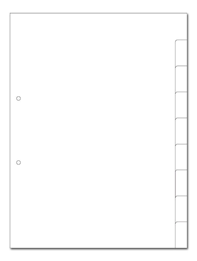 Kartonregister A4 9-teilig blanko weiss 2-fach gelocht 30er Pack