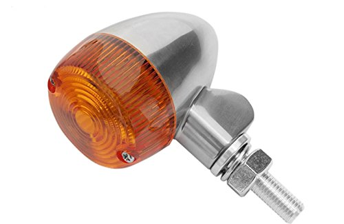 Lens 8320 (K&S Technologies Polished Aluminum Marker LED Lights - Round #1 with Amber Lens - Two Wire 26-8320)