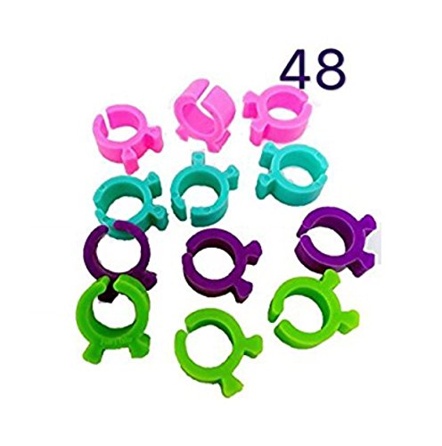 Quilting Bobbin (PeavyTailor 48 Pcs Thread Bobbin Holders Clips Great for embroidery, quilting and sewing thread)
