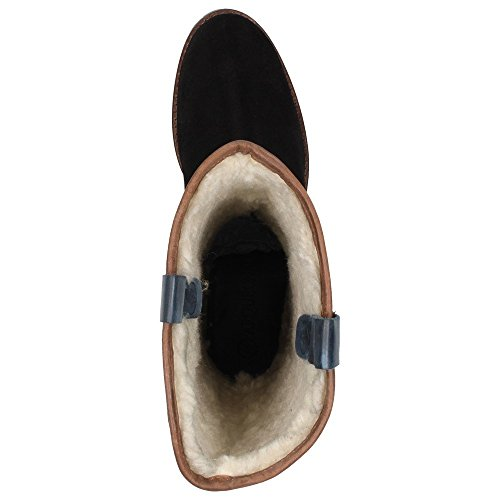 Arqueonautas ANZU-3 - botas de caño bajo de cuero mujer negro