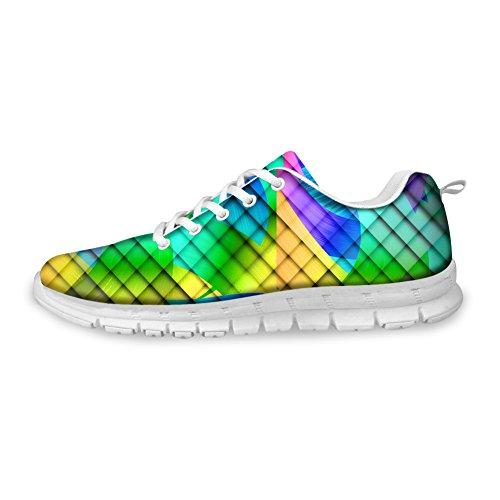 Bigcardesigns Kvinnors Mode Löparskor Sneakers Snörning Stil 5