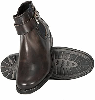 Sneaky Steve Milton Leather Shoe Men Leather Casual Boots Waterproof (Brown)