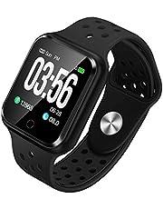 WAFA Fitness Armband mit Pulsmesser Blutdruck, Wasserdicht Fitness Uhr Smartwatch Sportuhren mit Aktivitätstracker Schlafen Sportdaten Monitor Vibrationsalarm Anruf SMS für Damen Männer