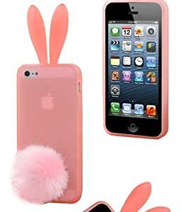 Cute Lovely Pink Rabbit Silicone Bunny Case Cover Protector For Apple iPhone 5C