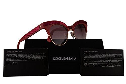 Dolce & Gabbana DG6109 Sunglasses Fuchsia Gold w/Pink Gradient Lens 50mm 30978D DG - Selena Sunglasses Gomez Red