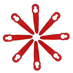 8 cuchillas de plástico para cortacésped Stihl PolyCut 2-2 ...