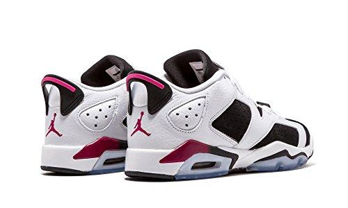 3606a64c247e Nike Air Jordan 6 Retro Low GG 768878-107 White Fuchsia Black Kids