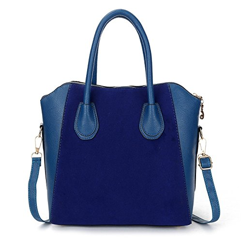 Hot Sale! Bag fashion bags patchwork nubuck women's handbag smiley shoulder bags (Blue - Bag Saint Shopping Laurent