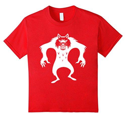 Kids HALLOWEEN WOLF MAN T-SHIRT 8 Red