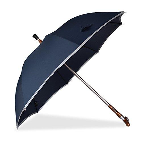 DUHUI Crutches Regenschirm Trennbar Reflektorstreifen Sunny Rain Dual-use multifunktionales Bergsteigen Anti-Rutsch-Outdoor-Outdoor-Spazierstock (Farbe   Blau)