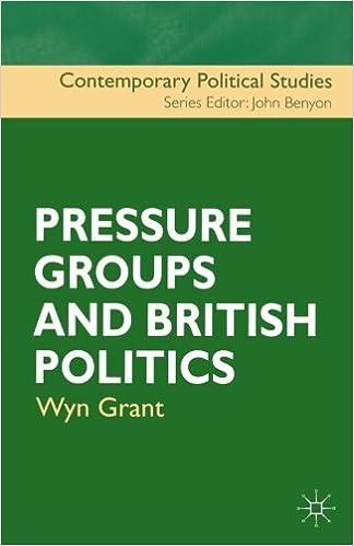 Pressure Groups and British Politics (Contemporary Political Studies)