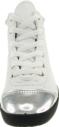 Lace White High Sneakers Taller Round Maxstar Deco Span Insole top Metalic qawPxF4nE