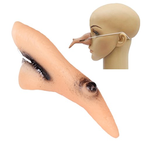 Rain's Pan Costumes Fake Witch Nose Latex Prosthetic Makeup Cosplay Props -