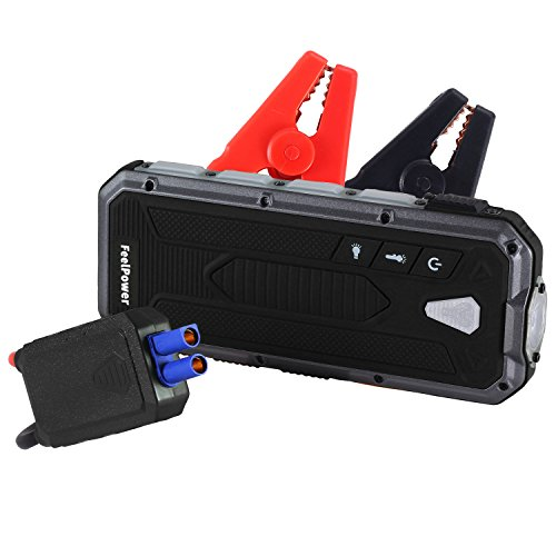 Car Jump Starter? RYX 400A Peak Portable (up to 3.0L Gas or 2.5L Diesel Engine) Auto Battery Booster Power Pack Phone Power Bank with smart ports Car Safety Hammer LED Flashlight & Smart Protection